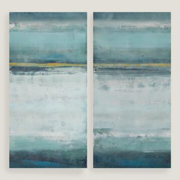 Blue Crush Diptych I and II by Elinor Luna